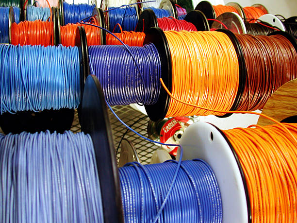 Techincal Wires  spool stock pictures, royalty-free photos & images