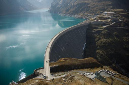 Kolnbrein Dam in Carinthia, Austria.