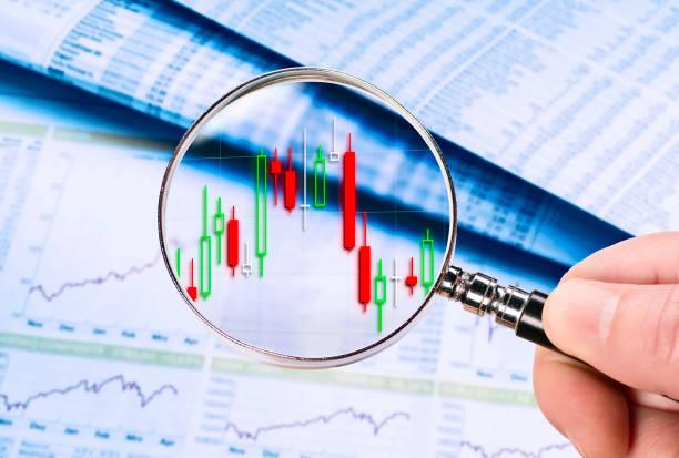 Technical analysis of price developments stock photo
