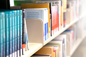 Technical books in the shelf