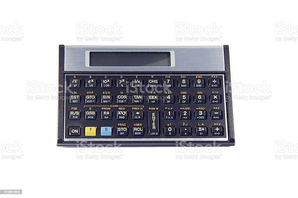 technical calculator royalty-free stock photo