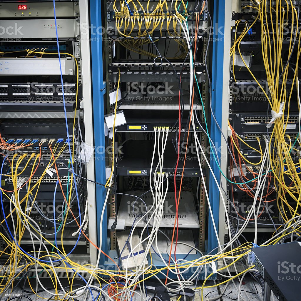 Technical computer room that needs maintenance royalty-free stock photo