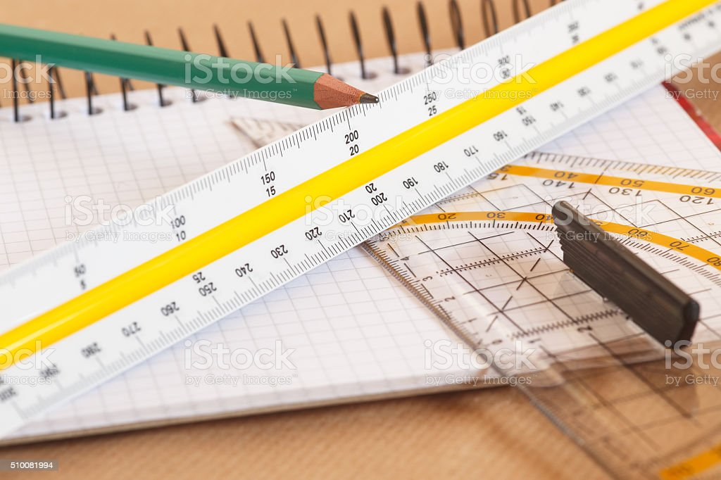 Technical Drawing Tools Stock Photo & More Pictures of Architect\'s ...