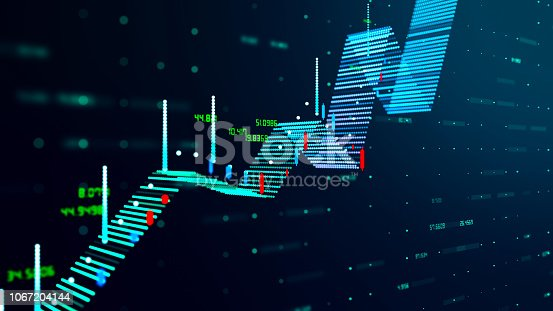 istock Technical financial graph on technology abstract background 1067204144