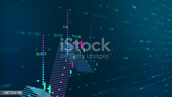 639666654 istock photo Technical financial graph on technology abstract background 1067204160