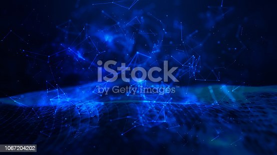 istock Technical financial graph on technology abstract background 1067204202