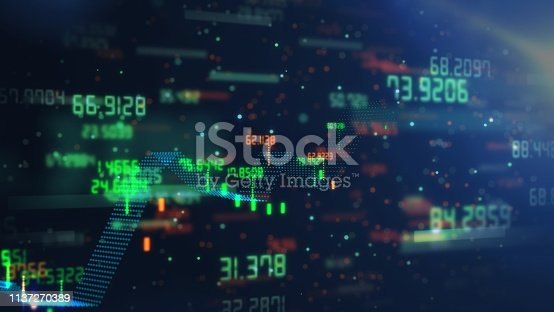 istock Technical financial graph on technology abstract background 1137270389