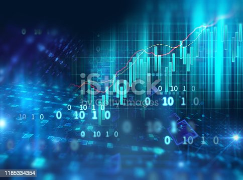 868363098 istock photo technical financial graph on technology abstract background 1185334354