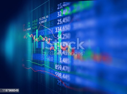868363098 istock photo technical financial graph on technology abstract background 1197966549