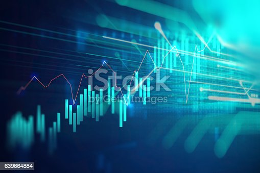 istock technical financial graph on technology abstract background 639664884