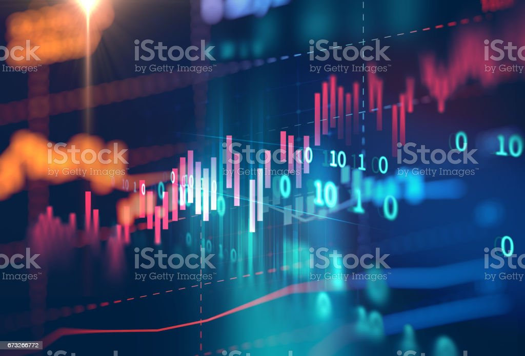 technical financial graph on technology abstract background royalty-free stock photo
