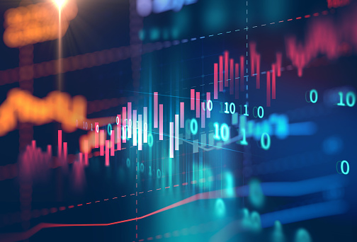 istock technical financial graph on technology abstract background 673266772