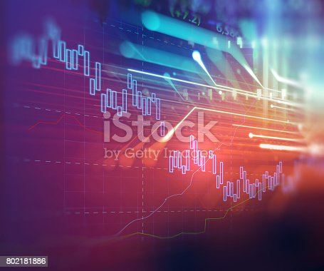 868363098 istock photo technical financial graph on technology abstract background 802181886