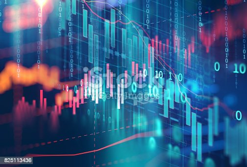 istock technical financial graph on technology abstract background 825113436