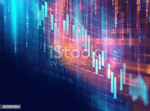 868363098 istock photo technical financial graph on technology abstract background 833990894