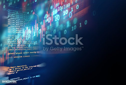 istock technical financial graph on technology abstract background 849024794