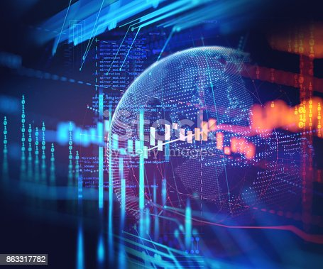 istock technical financial graph on technology abstract background 863317782