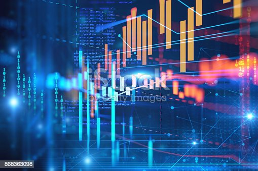 868363098 istock photo technical financial graph on technology abstract background 868363098