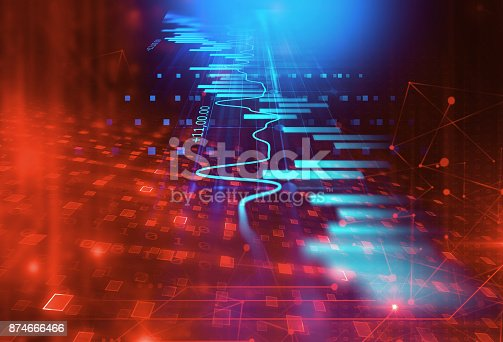 istock technical financial graph on technology abstract background 874666466