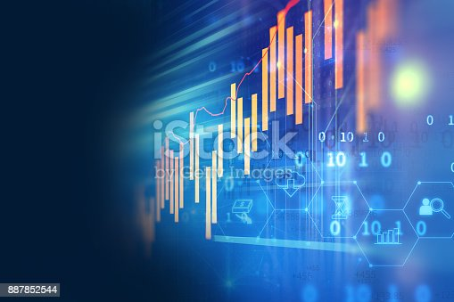 istock technical financial graph on technology abstract background 887852544