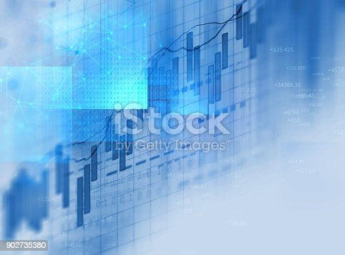 868363098 istock photo technical financial graph on technology abstract background 902735380