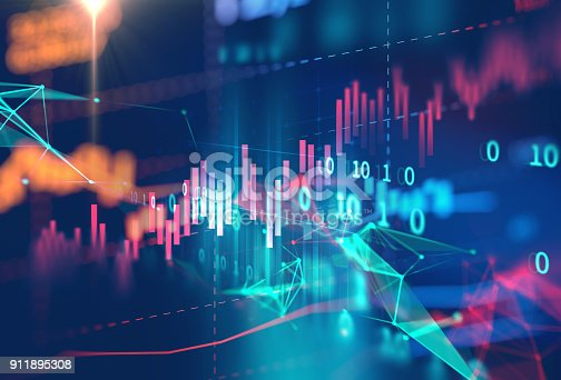 istock technical financial graph on technology abstract background 911895308