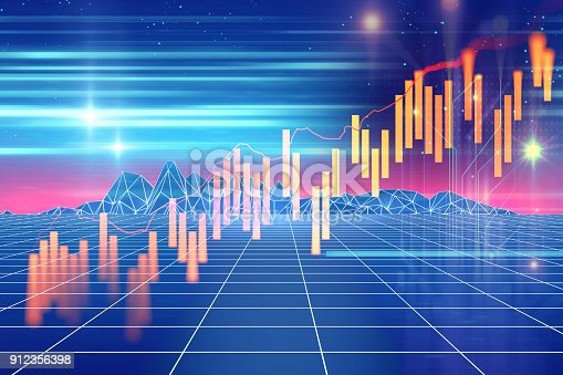 istock technical financial graph on technology abstract background 912356398