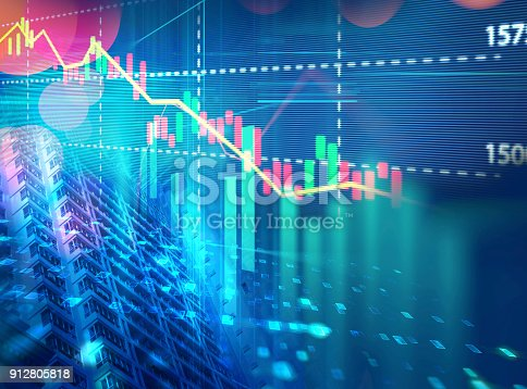istock technical financial graph on technology abstract background 912805818