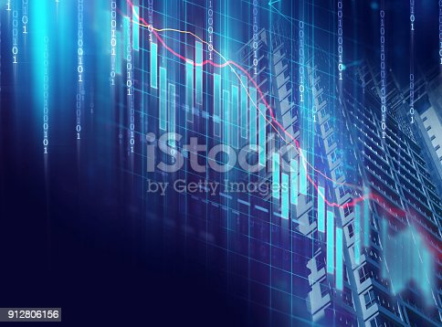 istock technical financial graph on technology abstract background 912806156