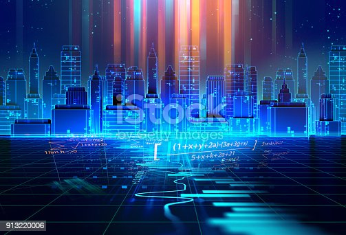 istock technical financial graph on technology abstract background 913220006