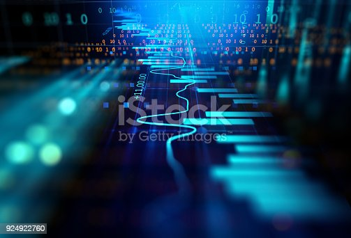 868363098 istock photo technical financial graph on technology abstract background 924922760