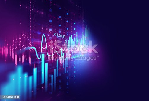 868363098 istock photo technical financial graph on technology abstract background 926051128