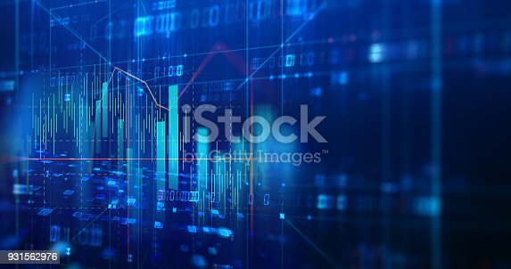 868363098 istock photo technical financial graph on technology abstract background 931562976
