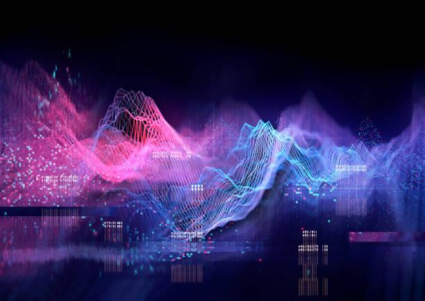 Technical Futuristic Graph stock photo