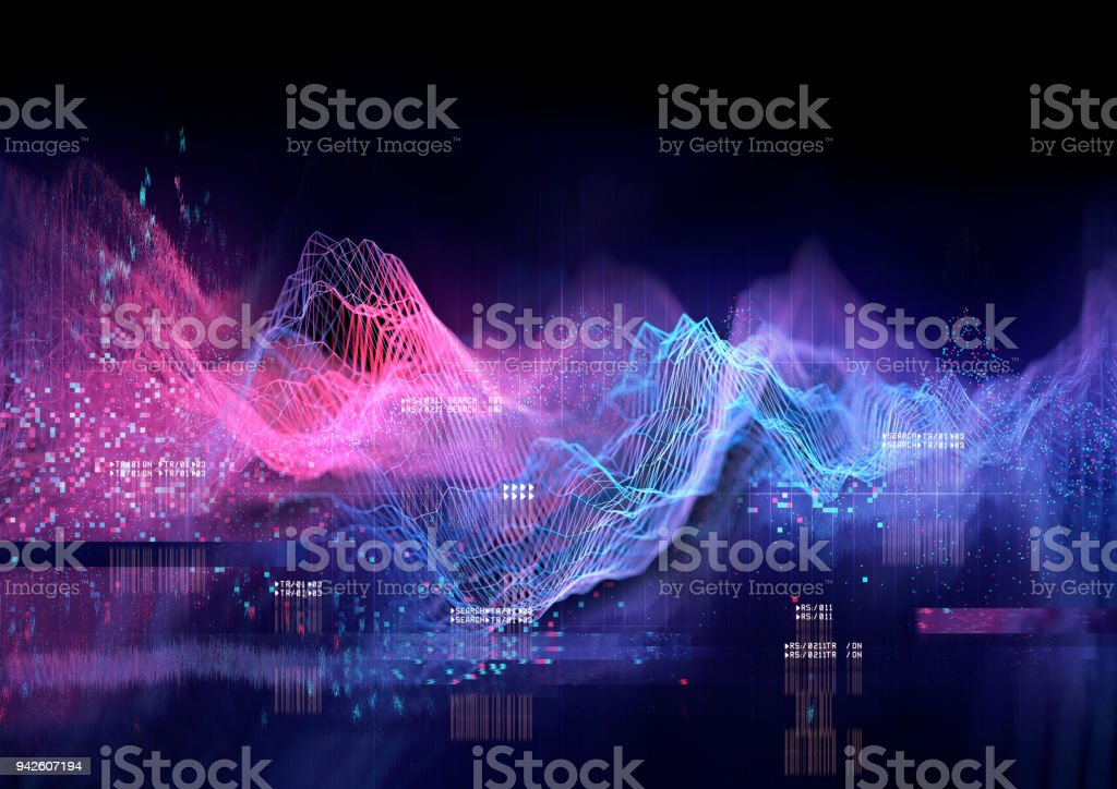 Technical Futuristic Graph - foto stock