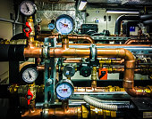 technical piping for ventilation