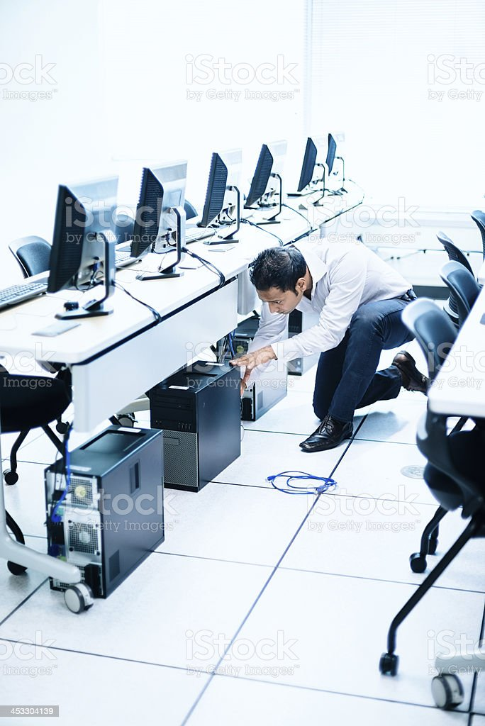 IT Technical Service in Computer Lab royalty-free stock photo