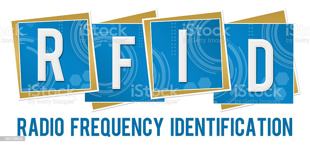 RFID Technical Squares stock photo