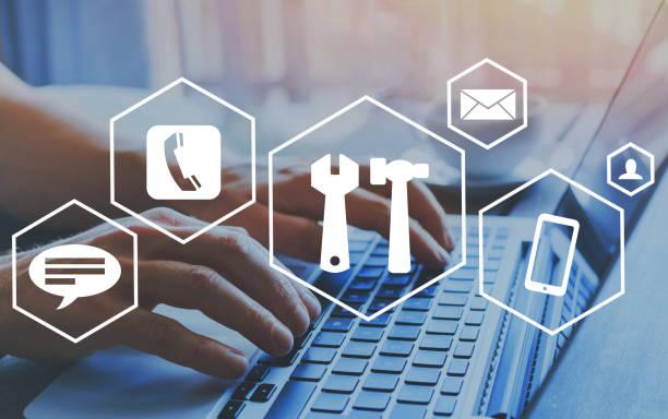 Technisches Support-Konzept, Hilfe online – Foto