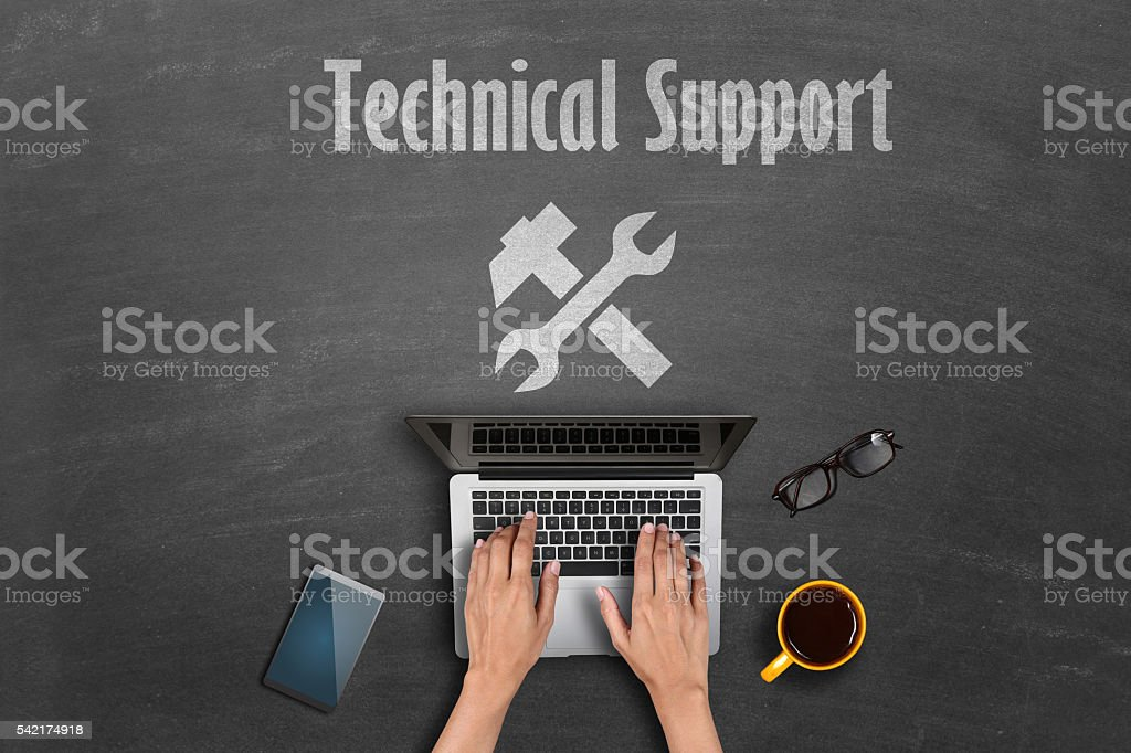 Technical support concept stock photo