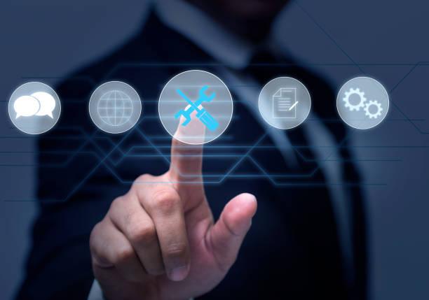technical support customer service  of business technology - call center стоковые фото и изображения