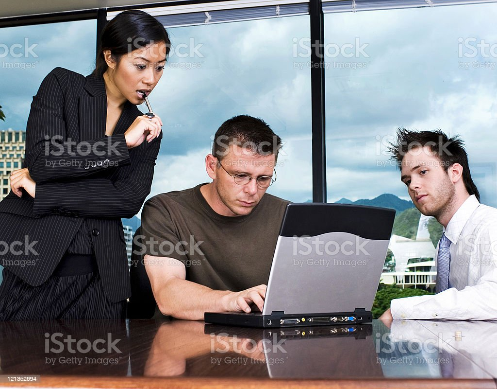 Technical Support in Business Office royalty-free stock photo