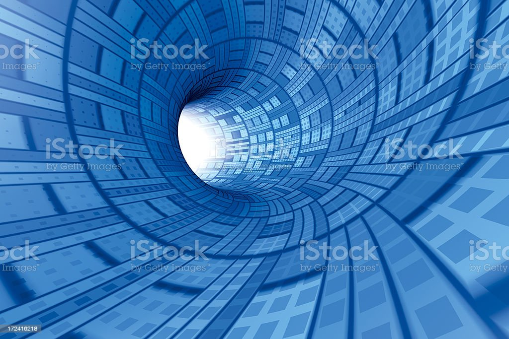 Technical Tunnel Wide stock photo