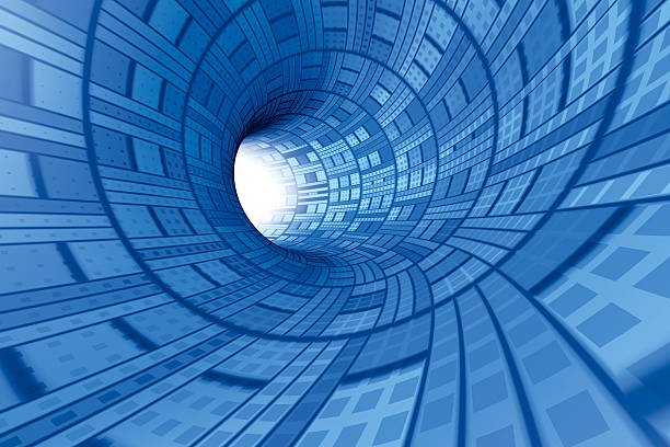 Technical Tunnel Wide 3D Rendering. Very high resolution available! Use it for Your own composings! abstract 3d stock pictures, royalty-free photos & images