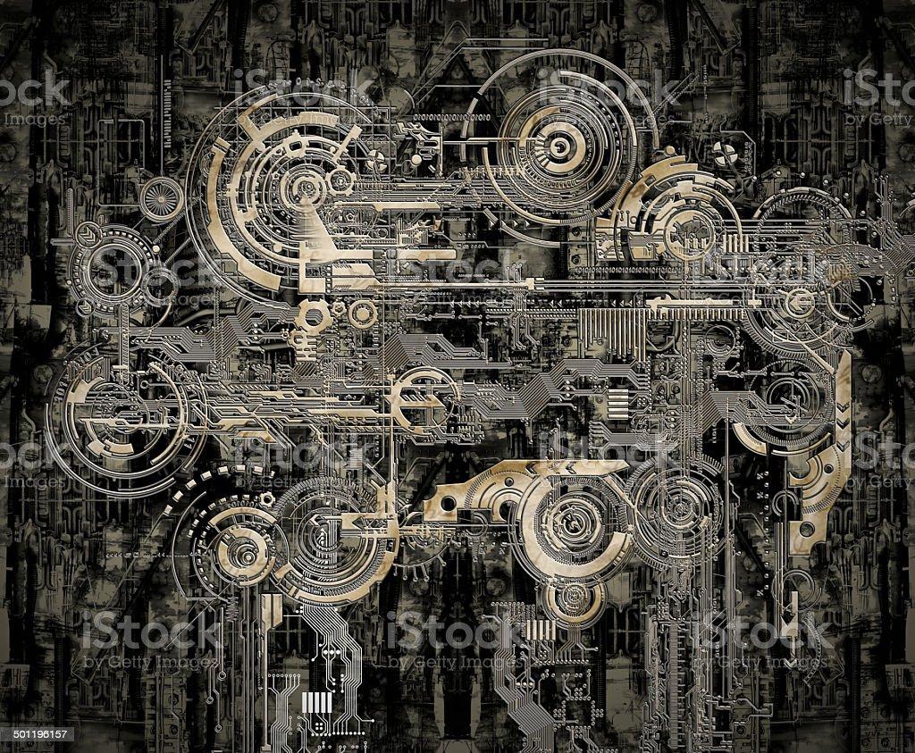 Technisch elektronische Hintergrund  – Foto