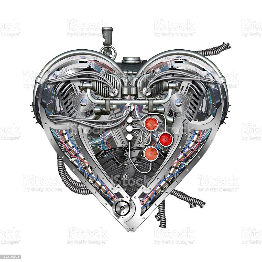 Technisch mechanische Herz – Foto