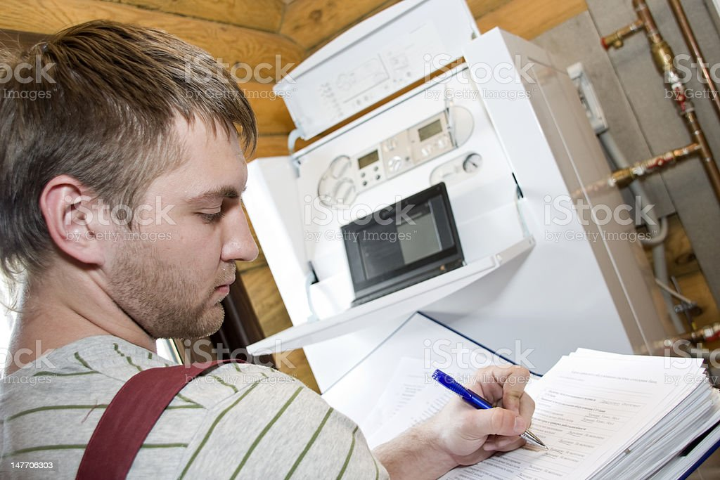 Technician at work royalty-free stock photo