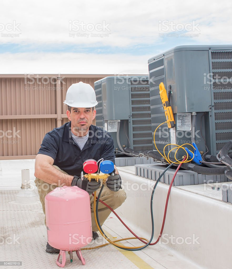 HVAC Technician Charging Unit stock photo