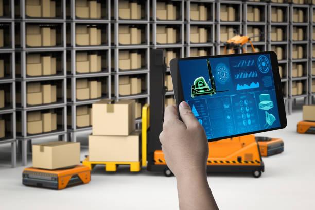 Techniker-Kontroll-Roboter – Foto