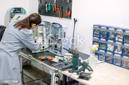 Technician in workshop